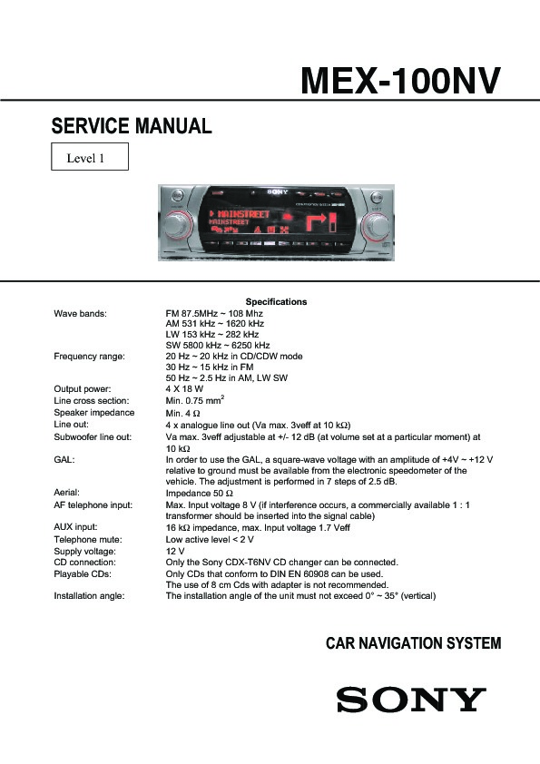 994801551 sony mex 100nv service manual free download sony mex-1gp wiring diagram at n-0.co
