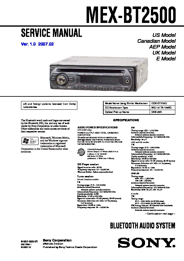 988755301 sony car audio service manuals page 48 sony mex bt3700u wiring diagram at bayanpartner.co