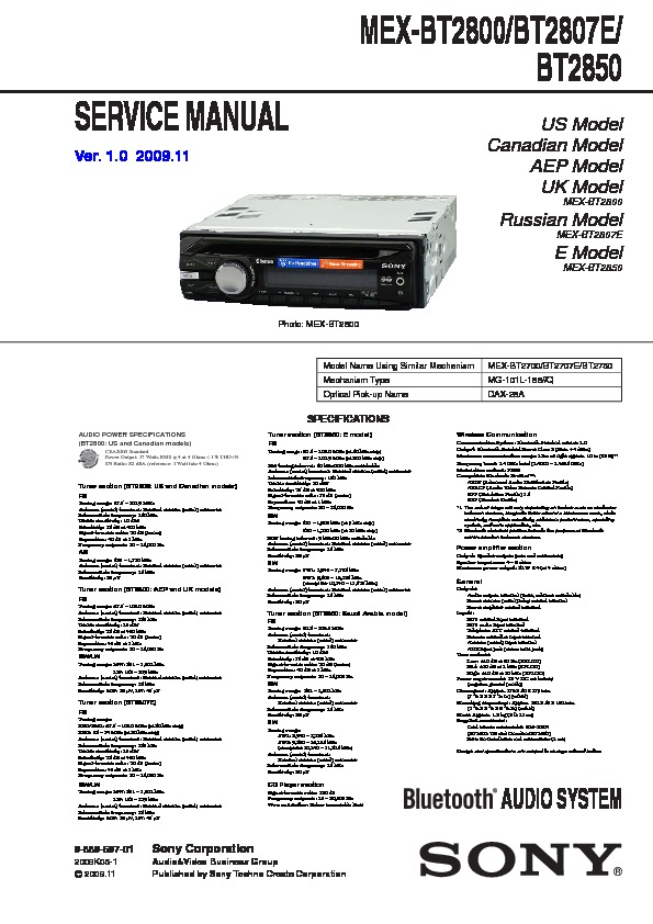 988969701 sony car audio service manuals page 48 sony mex-bt2800 wiring harness at gsmportal.co