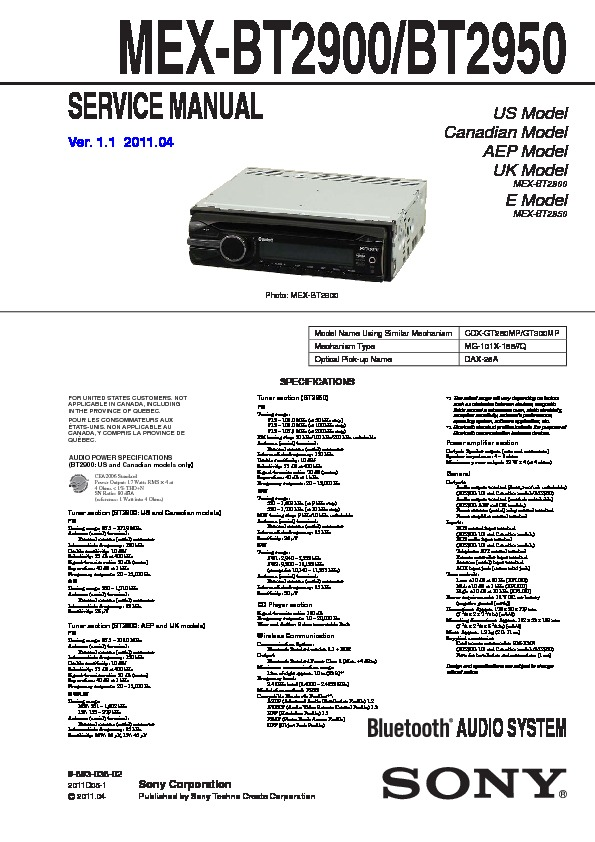989303802 sony mex bt2900, mex bt2950 service manual free download sony mex-bt31pw wiring diagram at gsmportal.co