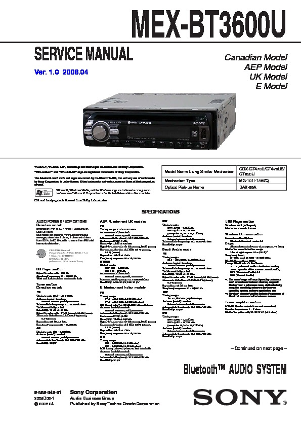 sony mex bt3600u wiring diagram   31 wiring diagram images