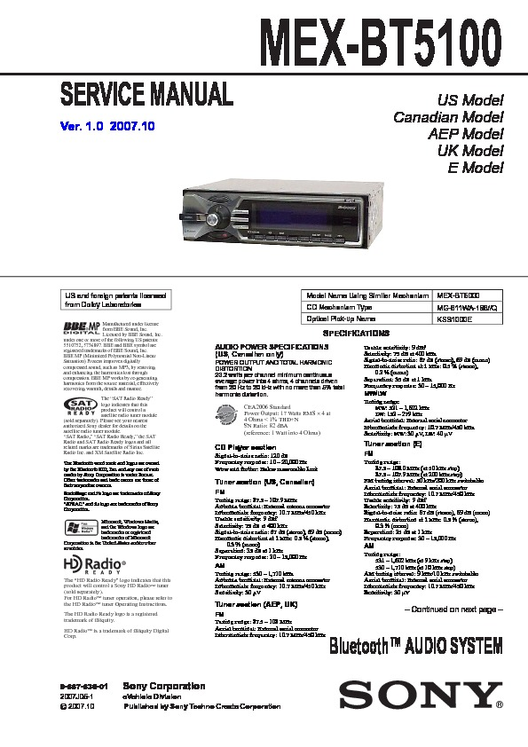 sony car audio service manuals page 48 sony cdx gt54uiw wiring-diagram sony mex bt5100 service manual