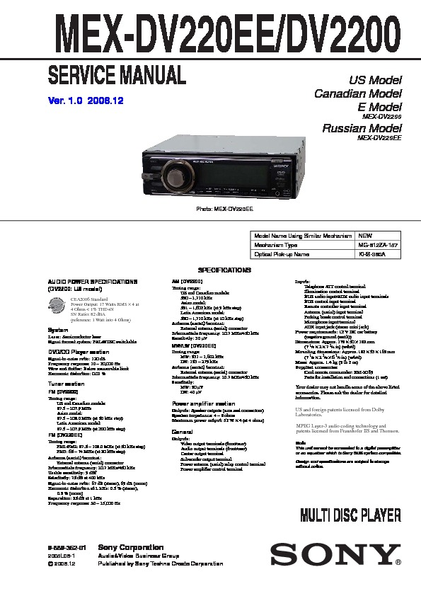 988936201 sony car audio service manuals page 49 sony mex-dv2200 wiring diagram at soozxer.org