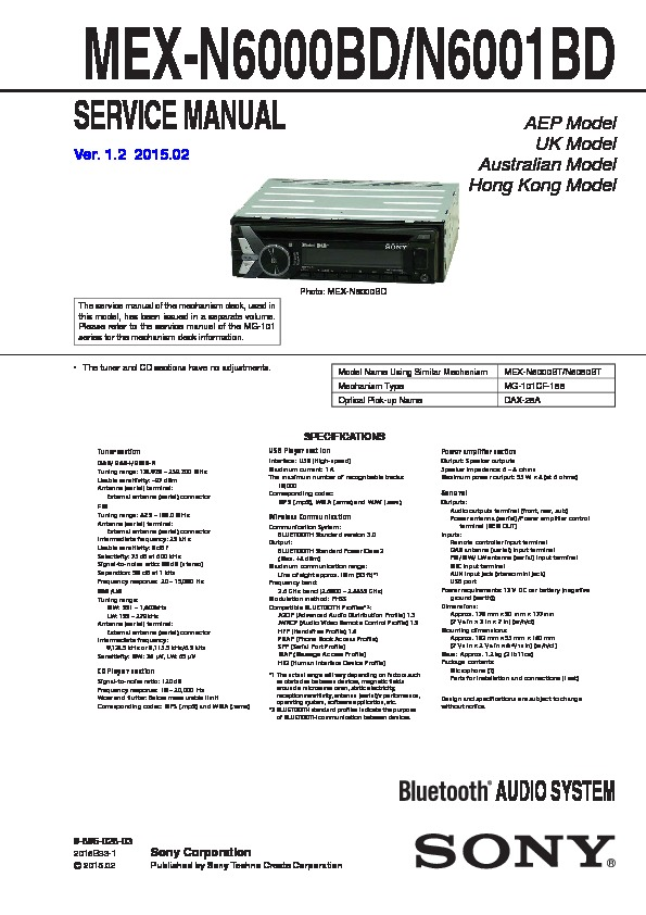 Sony Car Audio service manuals - Page 50
