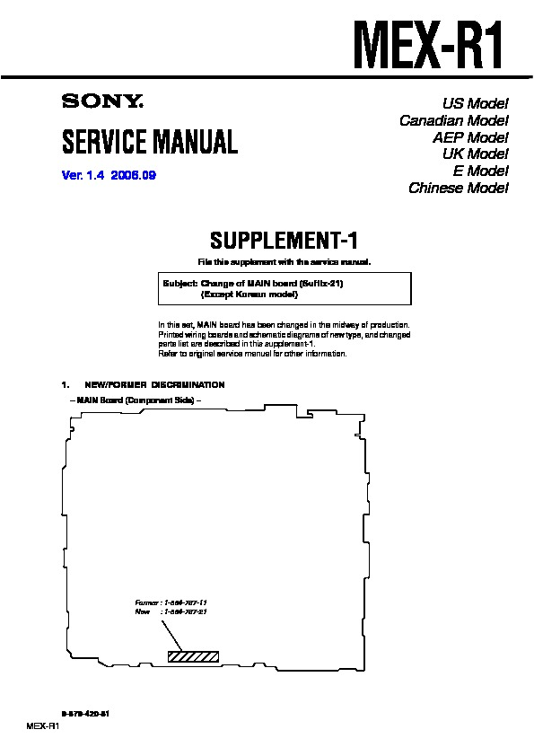 Sony Car Audio Service Manuals Page 20