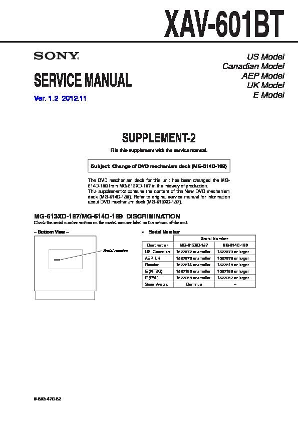 sony xav 60 xav e60 service manual free download rh servicemanuals us Sony XAV-60 Bypass sony xplod xav 60 wiring diagram