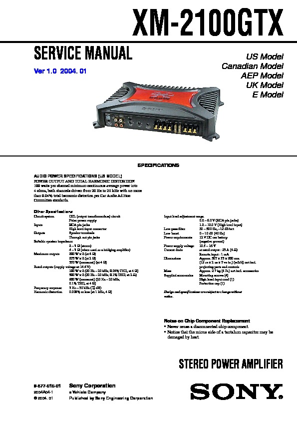 sony xm 2100gtx service manual free download Sony Stereo Systems sony 45wx4 car audio manual