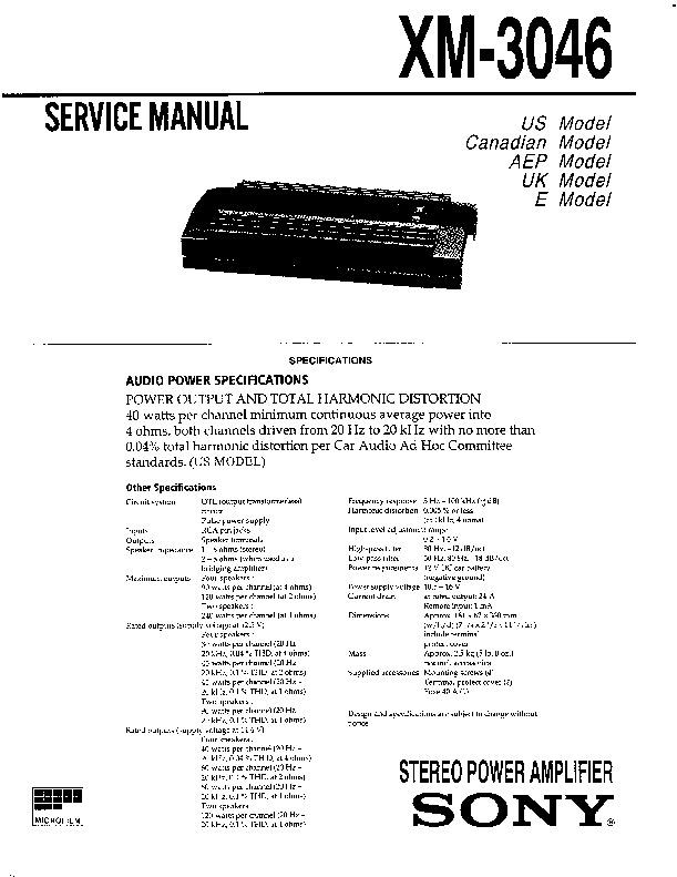 3046 service Manual