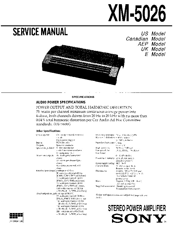 sony xm 5026 service manual free download rh servicemanuals us alpine car audio service manuals car audio service manual pdf