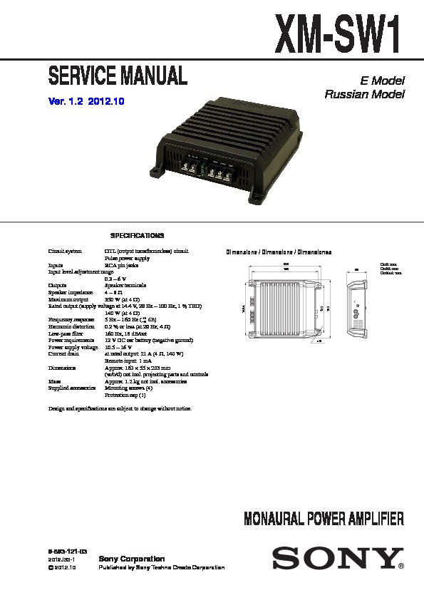 989312103 sony car audio service manuals page 65 sony xm-gtx6040 wiring diagram at bayanpartner.co