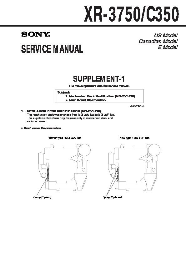 sony xr 3750 xr c350 service manual free download rh servicemanuals us MG-1 Gun moog mg-1 service manual