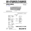 xr-4750rds, xr-c450rds service manual