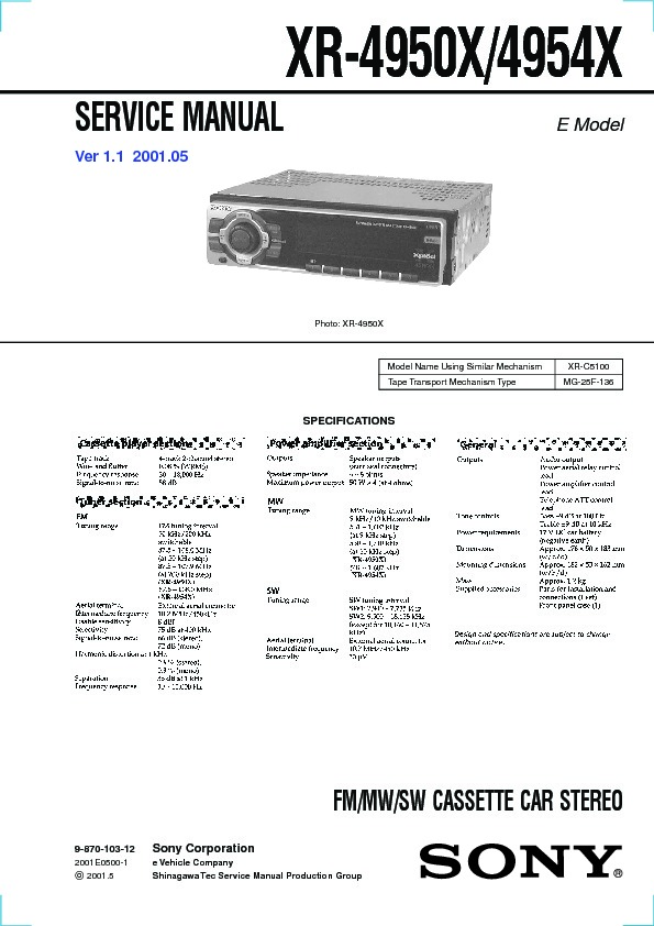 sony xr 4950x xr 4954x service manual free download rh servicemanuals us moog mg-1 service manual realistic concertmate mg-1 service manual