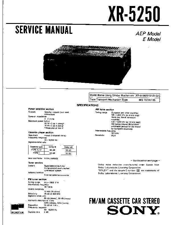sony xr 5250 service manual free download rh servicemanuals us service manual 3250 osmometer service manual 2240 jd