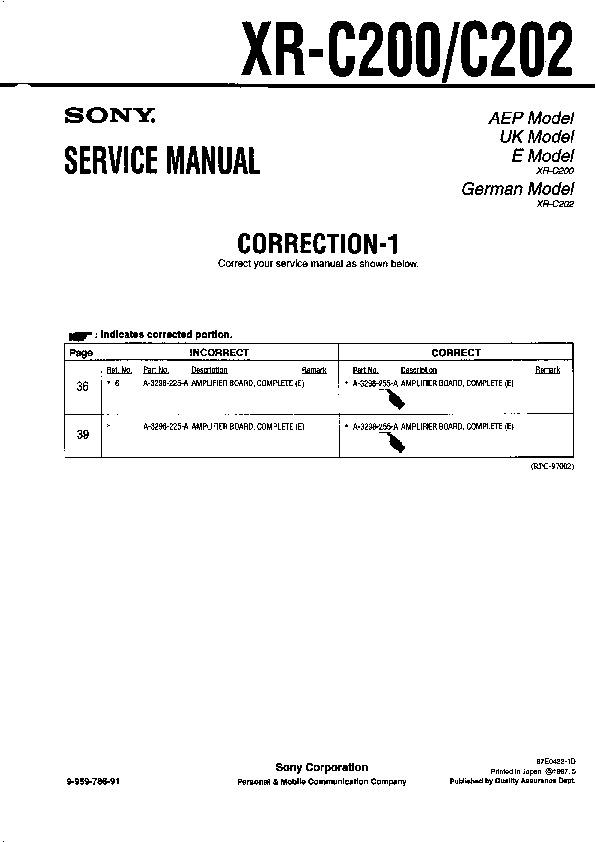 sony xr c200 xr c202 serv man3 service manual free download rh servicemanuals us Nokia C1-01 Nokia C208