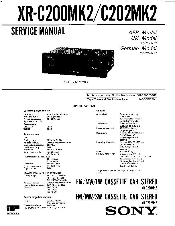 sony xr c200 xr c202 service manual free download rh servicemanuals us Nokia 6300 Nokia 6300