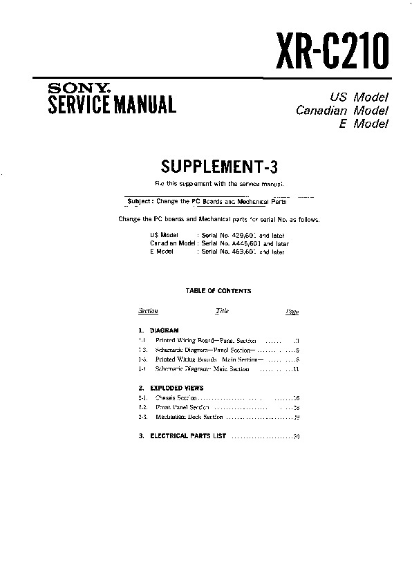 Sony Car Audio service manuals - Page 31 Radio Wiring Diagram For Sony Xr C on