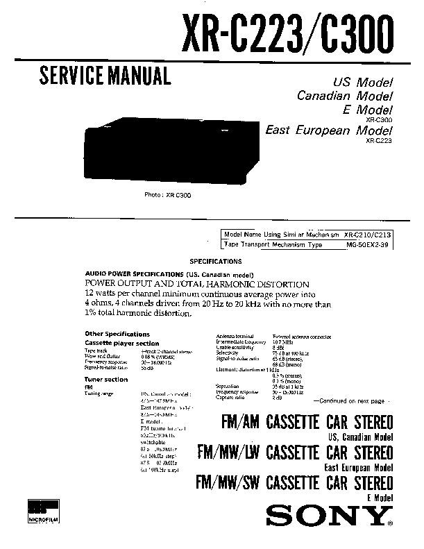 Sony Car Stereo Wiring Diagram - Dolgular.com