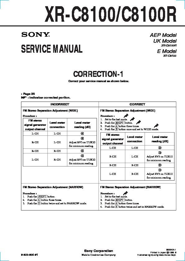 C8100 Manual
