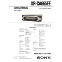 xr-ca665ee service manual