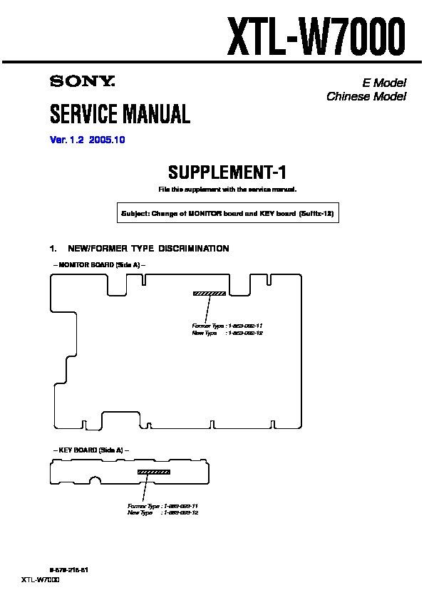sony xtl w7000 serv man2 service manual free download rh servicemanuals us Service Station Service ManualsOnline