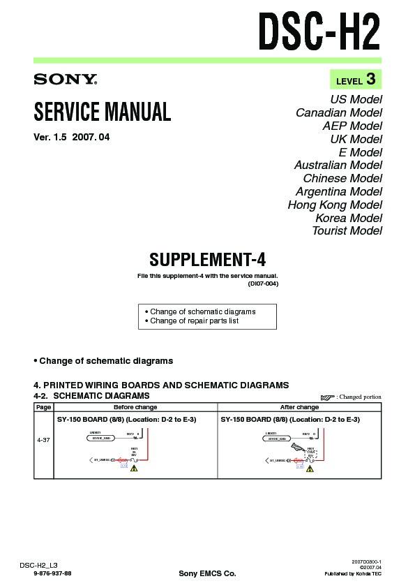 sony dsc h2 serv man11 service manual free download rh servicemanuals us Manual Sony DSC Master Code DSC Alarm System
