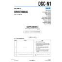 Sony DSC-N1 (serv.man12) Service Manual