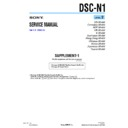 Sony DSC-N1 (serv.man6) Service Manual