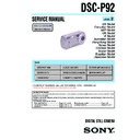 Sony DSC-P92 (serv.man2) Service Manual