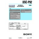Sony DSC-P92 (serv.man4) Service Manual