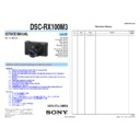 DSC-RX100M3 (serv.man2) Service Manual