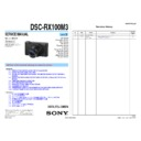 DSC-RX100M3 (serv.man3) Service Manual