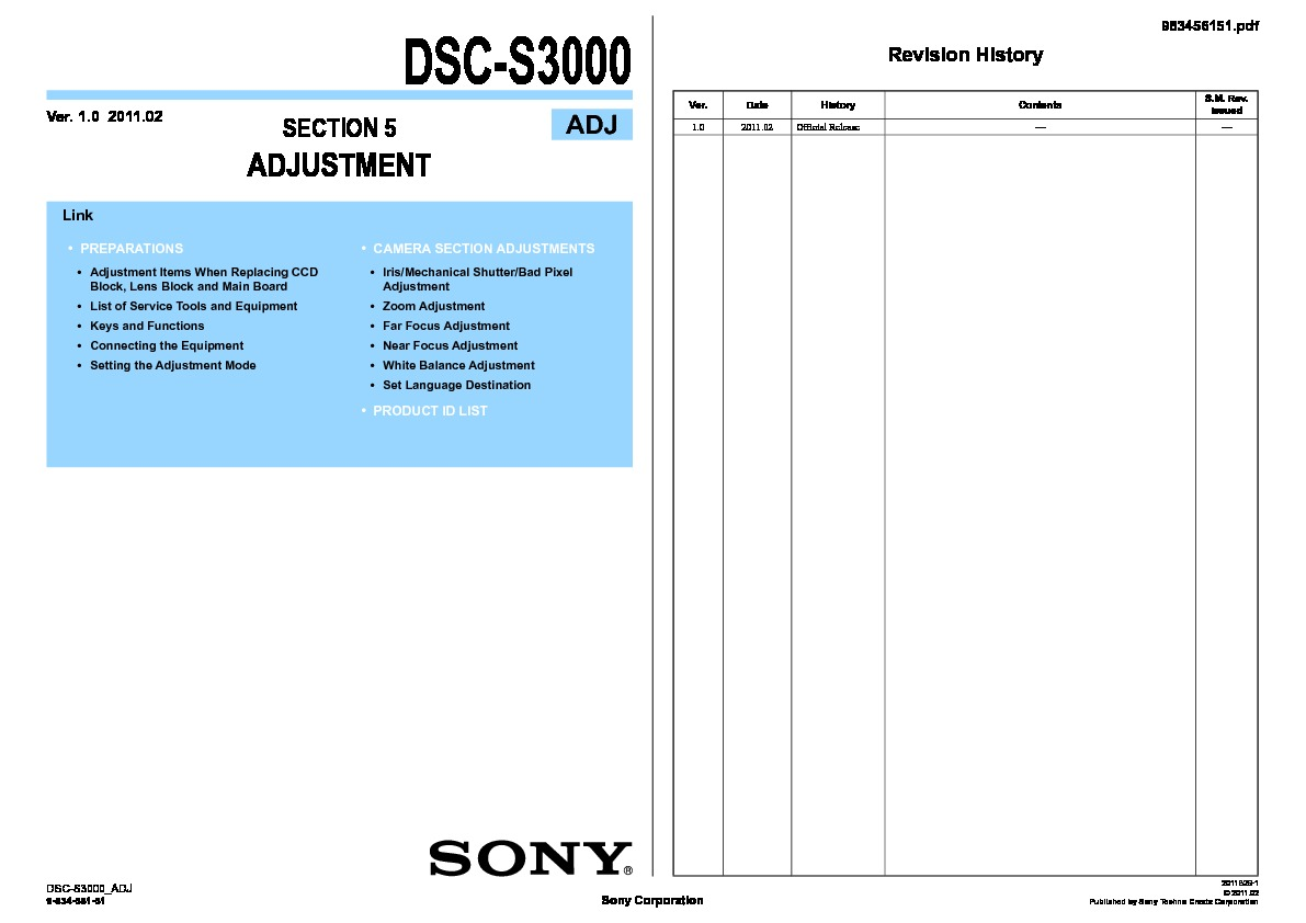 Sony Dsc S30 S50 Service Manual Free Download Com Bus Wiring Diagram S3000 Servman2