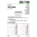 Sony DSC-T100 (serv.man10) Service Manual