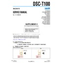 Sony DSC-T100 (serv.man11) Service Manual