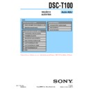 Sony DSC-T100 (serv.man14) Service Manual