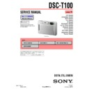 Sony DSC-T100 (serv.man3) Service Manual