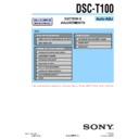 Sony DSC-T100 (serv.man4) Service Manual