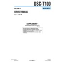 Sony DSC-T100 (serv.man5) Service Manual