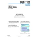 Sony DSC-T100 (serv.man6) Service Manual
