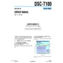 Sony DSC-T100 (serv.man7) Service Manual
