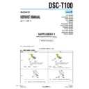 Sony DSC-T100 (serv.man8) Service Manual