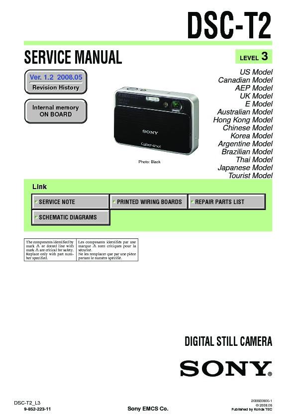 sony dsc t2 service manual free download rh servicemanuals us Sony DSC- H50 Sony DSC- H10