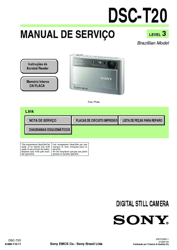 sony dsc t20 service manual free download rh servicemanuals us Sony Digital DSC-T200 Camera Sony DSC- H9