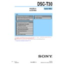 Sony DSC-T30 (serv.man12) Service Manual