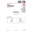 Sony DSC-T30 (serv.man4) Service Manual