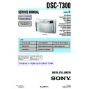 Sony DSC-T300 (serv.man2) Service Manual