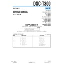 Sony DSC-T300 (serv.man4) Service Manual