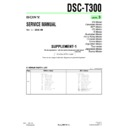 Sony DSC-T300 (serv.man5) Service Manual