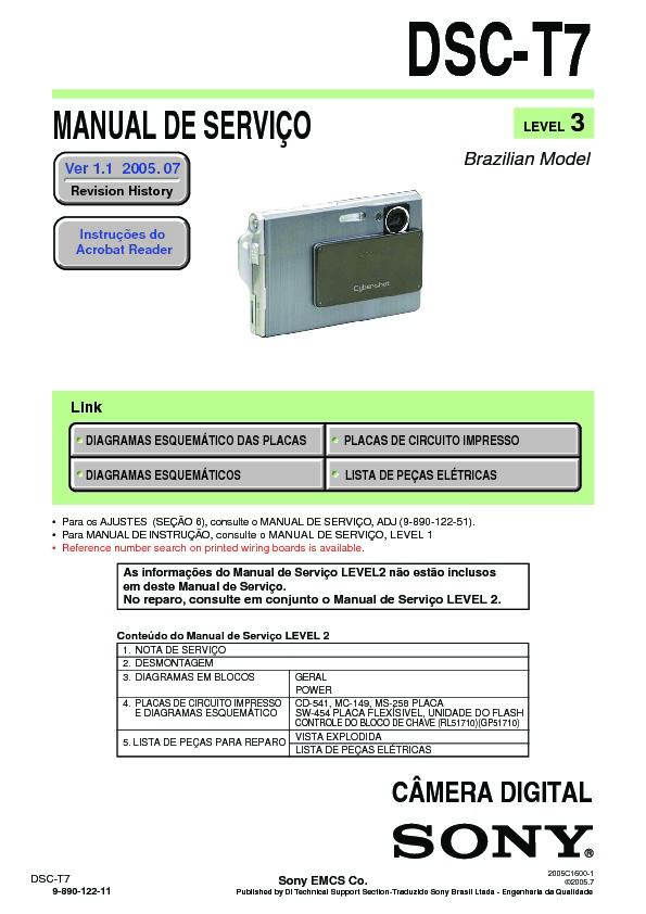 sony dsc t7 serv man17 service manual free download rh servicemanuals us sony cyber-shot dsc-t70 instruction manual